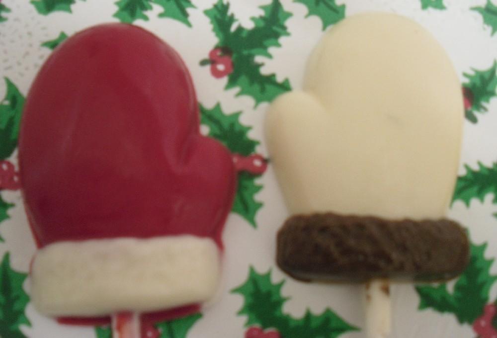 Set of 12 Winter Mitten Lollipops image 2