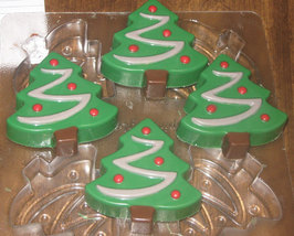 One dozen chocolate covered sandwich cookie Christmas trees image 4