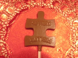 Chocolate Autism Awareness Sucker\/Lollipops image 2