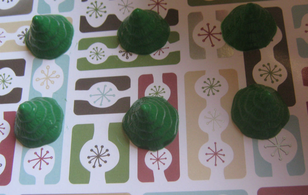 Mini tree cupcake toppers one dozen Christmas tree party favors image 3