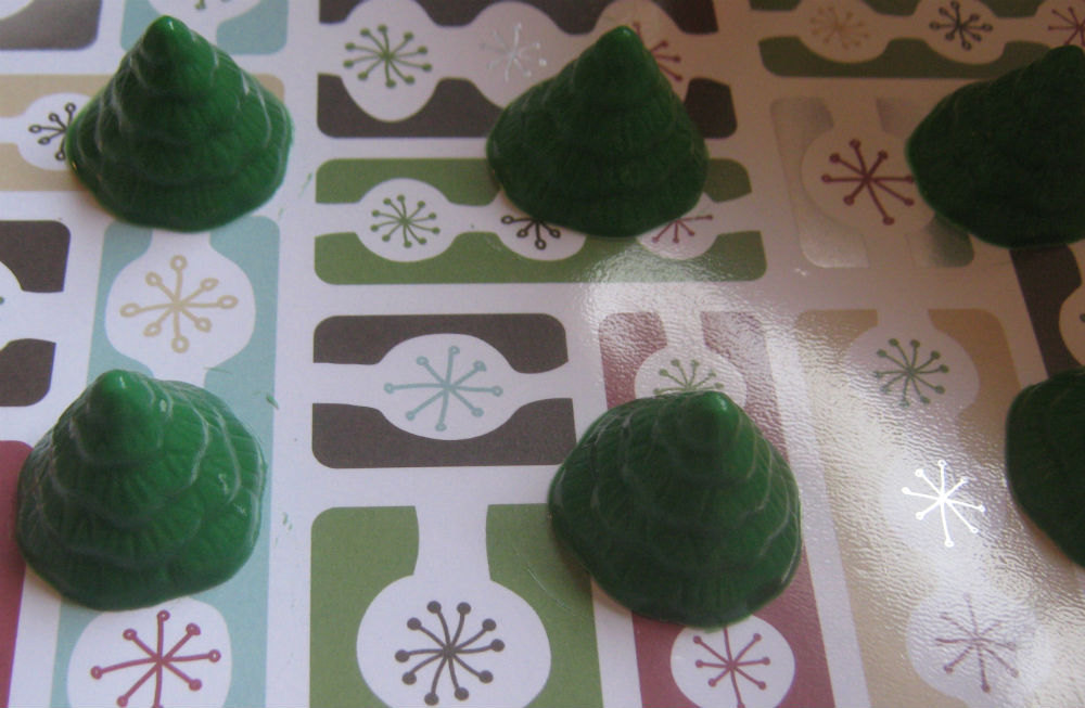 Mini tree cupcake toppers one dozen Christmas tree party favors image 5