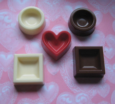 5 piece mini chocolate candy dishes dessert cups - $11.75