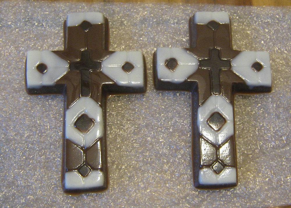 One dozen chocolate mosaic crosses image 2