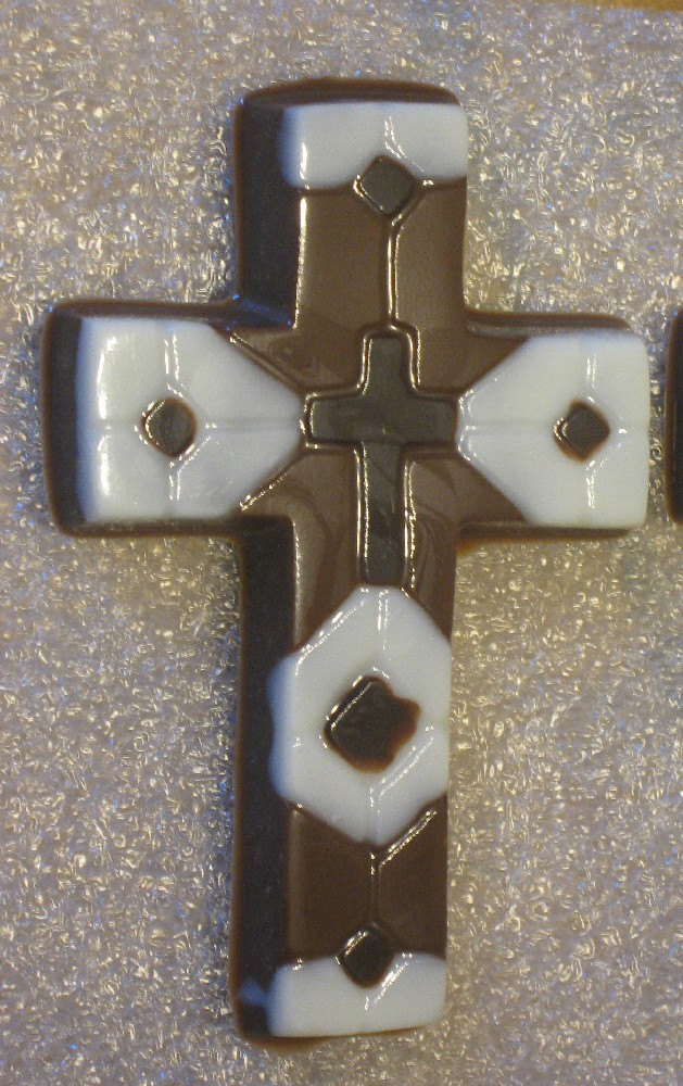One dozen chocolate mosaic crosses image 3