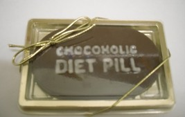 Single Chocoholic Diet Pill in a Gold Gift Box - $3.50