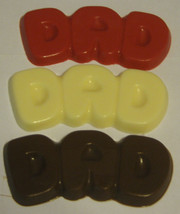 One dozen Dad bubble letter chocolate bars party favors Fathers day and birthday - $19.25
