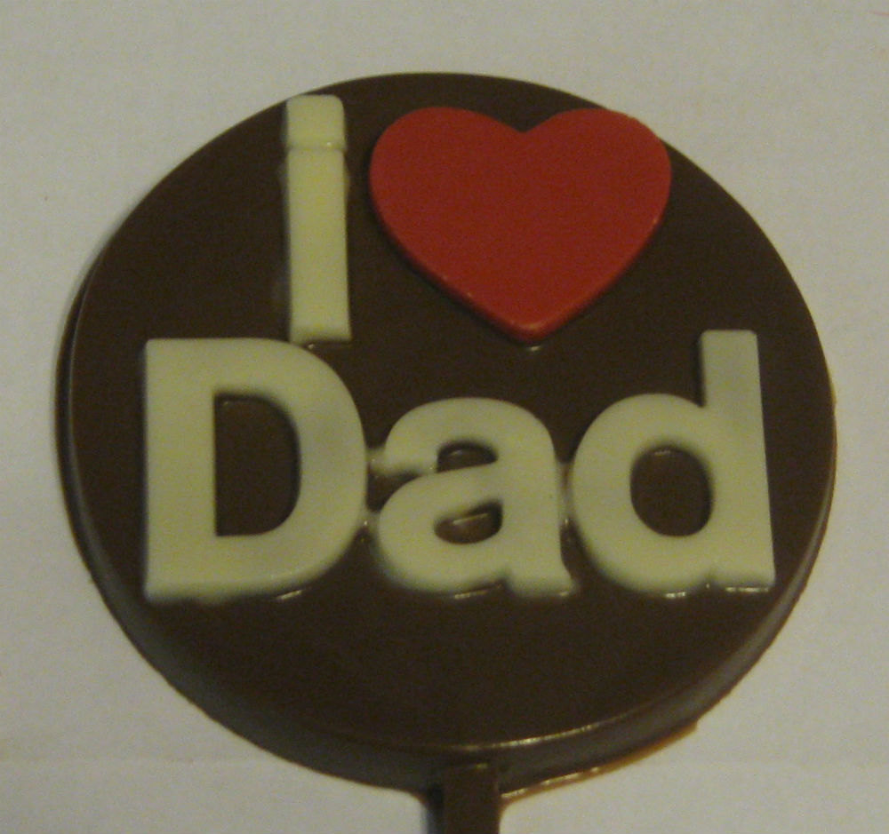 Primary image for One dozen I Heart Dad lollipop sucker party favors fathers day birthday gifts