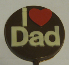 One dozen I Heart Dad lollipop sucker party favors fathers day birthday gifts - $19.25