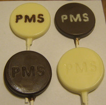 One dozen PMS pill lollipops milk, white, or dark chocolate - $18.00