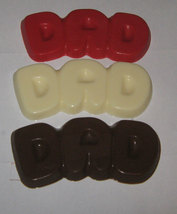 One dozen Dad bubble letter chocolate bars party favors Fathers day and birthday image 2