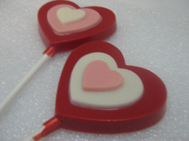 Triple layer heart lollipop sucker party favor - $18.00
