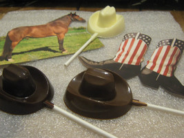 One dozen cowboy hat lollipop sucker party favor - $21.00