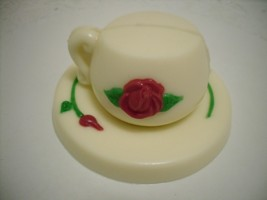 3D Chocolate Teacup and Saucer - $9.50