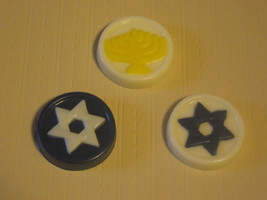 One dozen (12 pieces) Jewish Hanukkah Chanukah holiday symbols bite size - $9.50