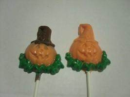 A dozen Halloween Jack o lantern pops - $18.00