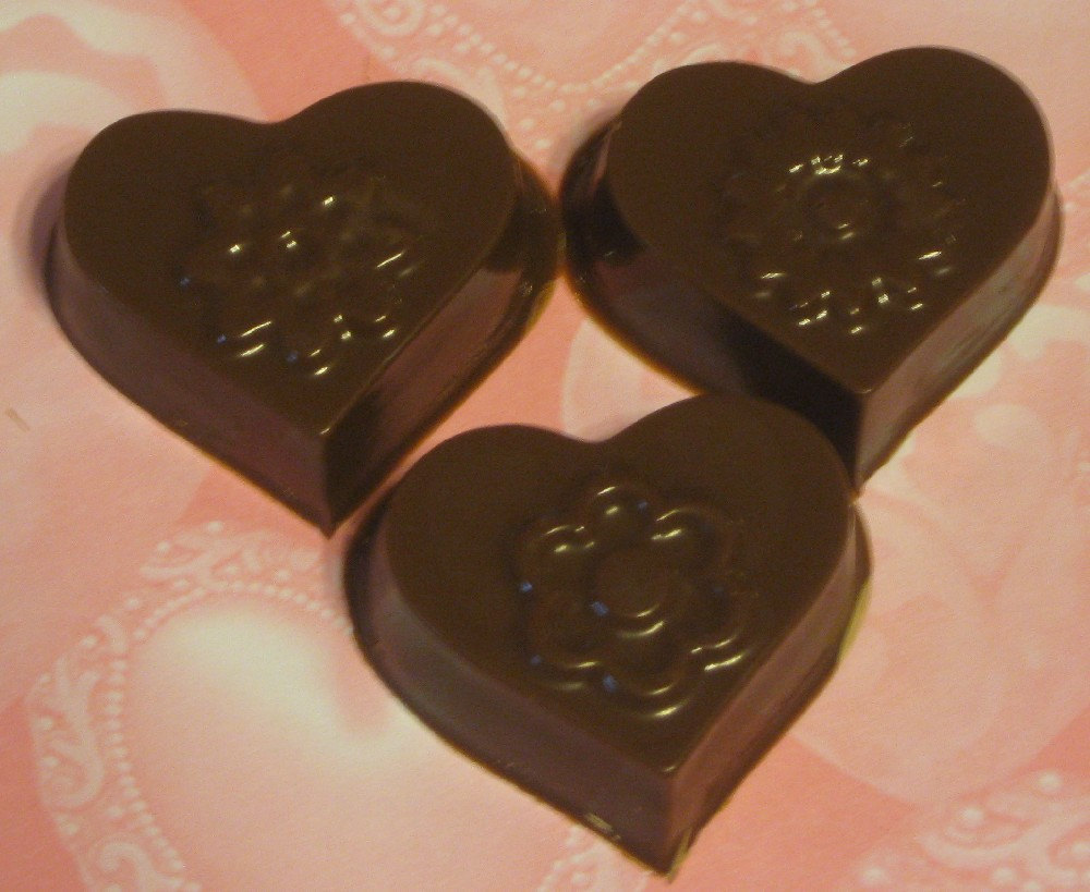 One dozen hearts and flowers caramel or peanut butter cup party favors