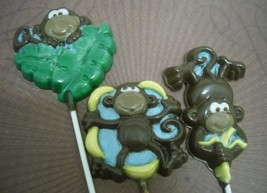 Set of 3 Large Monkey Lollipops - $7.00