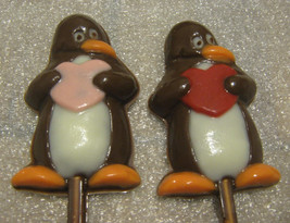 Penguin love valentine heart lollipop party favor 12 pieces - $18.00
