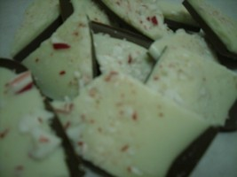 One pound chocolate peppermint/candy cane bark image 3