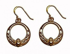 24kt gold plated Royal Claddagh IRELAND IRISH earrings - $41.92