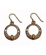 24kt gold plated Royal Claddagh IRELAND IRISH earrings - $41.92