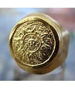 New Genuine 10K GOLD Tribal Mayan Aztec Calendar Sun Ring HEAVY Jewelry ... - $969.00