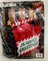 Bucilla Plastic Canvas Kit Christmas Season's Greeting Buffet Utensil Ca... - $12.16