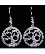 New Genuine Sterling Silver .925 Celtic Family Tree of Life  Earrings Je... - $26.81