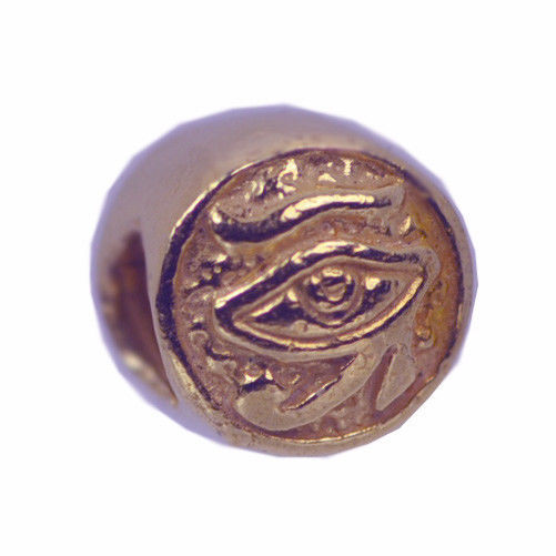 Rose Gold pltd Sterling Silver Egyptian Eye of Horus BEAD Charm jewelry bracelet