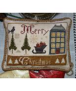 Merry Christmas cross stitch chart Abby Rose Designs - $9.00