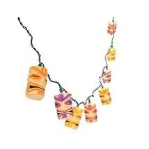 Tiki Head Hawaiian Luau Beach Party Patio Light String Set - £12.71 GBP