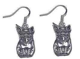 Cute Pig Piglet Earrings Sterling Silver 925 Jewelry - $32.55