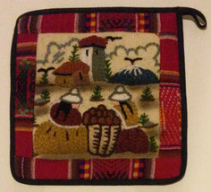 POTHOLDER Handmade Embroidered South America NEW - $7.99