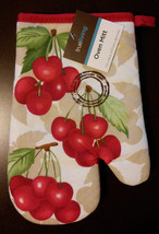 CHERRY Design OVEN MITT Red Cherries Fruit NEW - $3.99