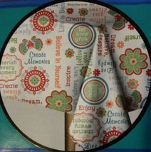 TABLECLOTH with inspirational sayings flowers Vinyl Flannel 52x70 NEW - $12.99