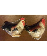 ROOSTER SALT and PEPPER SHAKERS Ceramic Chicken NEW - $9.99
