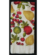 FRUIT theme KITCHEN TOWEL Apple Pear Cherry Green Red NEW - $3.99
