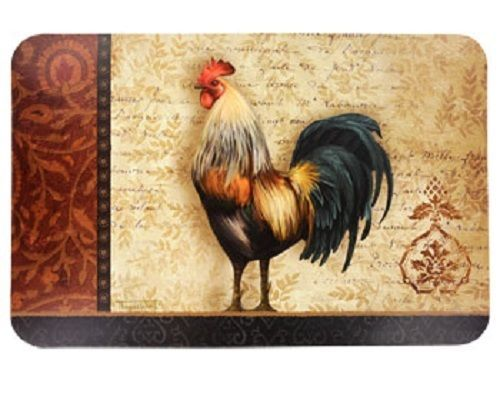 CHANTICLEER ROOSTER PLACEMATS Set of 2 Plastic French Country Decor NEW