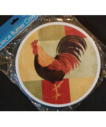 COLORFUL ROOSTER BURNER COVERS Set of 2 Stove Cover Decor NEW - $7.99
