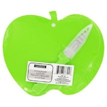 """Green Apple Cutting Board With Knife 9.5""""x7"""" Plastic New - $6.99"""