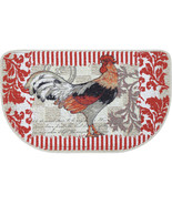 ROOSTER KITCHEN RUG French Country Provencal Red Slice Mat NEW - $14.99