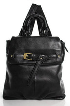 Aimee Kestenberg - Leather Backpack Black Buckle Detail-Authentic NWT MS... - $143.99