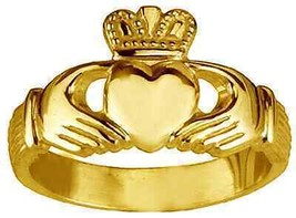 Gold pltd Buffy The Vampire Slayer Claddagh ring SZ 9.5 - $29.44