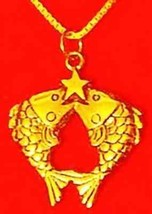 Gold Plated Pisces Zodiac Star Pendant Charm Jewelry - $24.88
