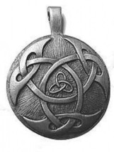 Celtic Triquetra Infinity Knot Silver Pendant Charmed - $47.85