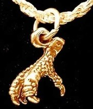 1647 Gold Plated Eagle Claw Charm Pendant Jewelry Bird - $17.26