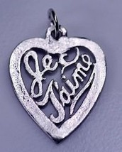 Je t'aime Pendant Charm Silver .925 Jewelry I love you - $15.31
