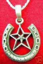 Good luck Star Horse shoe Charm Sterling Silver Pendant - $40.23
