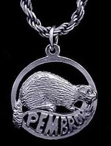 Pembroke Ontario Canada beaver Pendant Sterling Silver Charm Jewelry - $13.41