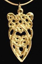 Silver Celtic Knot of Infinity Pendant Gold Plated - $21.05